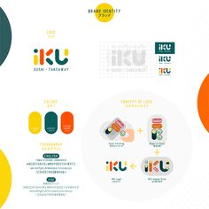 iKU いく Sushi - Branding - Showcase and discover creative work on the world's leading online platform for creative industrie - Self Branding, Cafe Branding, Identity Branding, Corporate Branding, Kids Branding, Visual Identity, Colorful Branding, Corporate Design, Brand Identity Design
