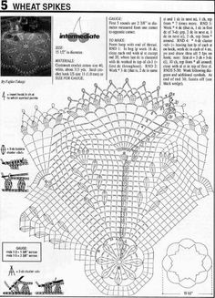 Page 2 of 2 Wheat Spikes Doily