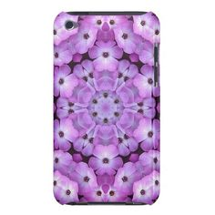 Unique, trendy and pretty iPod Touch case. Beautiful flowers kaleidoscope fantasy mosaic pattern in pink, purple and violet. Geometric floral design for the trend setter, modern motif, or vintage retro deco and nouveau art lover. Cute and fun present for mom's birthday, Mother's day, Christmas, the girly girl or a great gift for the elegant and sophisticated woman who wants a classy, chic, original and cool iPod cover. Also for Samsung Galaxy S3 and S2, iPhone 3 4 and 5, and Motorola Droid…