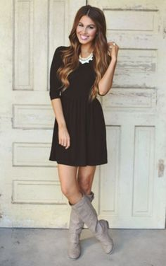 POCKET DRESS- BLACK