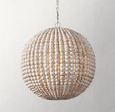 RH Baby & Child's Darya Pendant:Draped in graduated wooden beads, our pendant lends a room an organic presence. Strung by hand, the beads beautifully filter the light within. Wood Bead Chandelier, Dining Chandelier, Pendant Lighting, Room Lights, Ceiling Lights, Hanging Lights, Luxury Nursery, Rh Teen, Restoration Hardware Baby