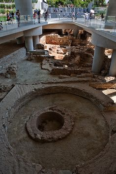 Under the new Acropolis Museum in Athens #Greece