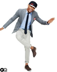 Trey Songz Shows Men How to Wear the Sports Jacket in GQ Look 2015, Men's Pocket Squares, Trey Songz, Gq Magazine, Dapper Men, Business Casual Outfits, Business Attire, Sport Chic, Sports Jacket