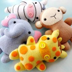 Jungle Animal Softies | YouCanMakeThis.com | Sewing Pattern