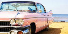 Wedding car in rosa