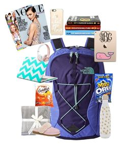 """""""Day 3: Car/Plane Ride✈️"""" by preppy-southern-girl88 ❤ liked on Polyvore featuring interior, interiors, interior design, home, home decor, interior decorating, The North Face, Vineyard Vines, Casetify and S'well"""