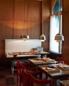 "Stockholm's Mathias Dahlgren is actually two experiences: Matsalen and Matbaren, its more casual, brasserie version (shown here). ""We were copying for a while,"" says Dahlgren of Sweden's new culinary moment, ""but now we are creating our own language out of our own roots."""