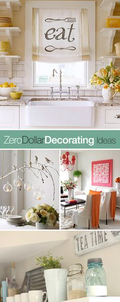 Best Diy Crafts Ideas For Your Home : Zero Dollar Decorating! Tips Ideas & Tutorials for how to decorate with Decorating On A Budget, Interior Decorating, Interior Design, Deco Tape, Deco Champetre, Diy Home Decor, Room Decor, Ideas Para Organizar, Diy Inspiration