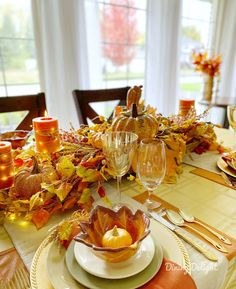 Dining Delight: Thanksgiving Tablescape for a Small Gathering Thanksgiving Table Settings, Thanksgiving Tablescapes, Thanksgiving Feast, Homemade Buns, Basket Tray, Leaf Bowls, Chocolate Dreams, Pumpkin Soup