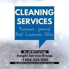 Insight Service Group provide fully bonded & insured reliable and trusted service with satisfaction assurance. Commercial Cleaning Company, Cleaning Companies, Construction Cleaning, Medical Dental, Best Commercials, Bathroom Cleaning, School S, Insight, Virginia