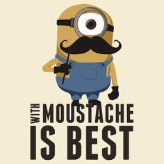 Minion moustache by Guidux