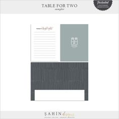 Source: Shop Update   Table for Two Scrapbook Collection & Free Sampler   Sahin Designs
