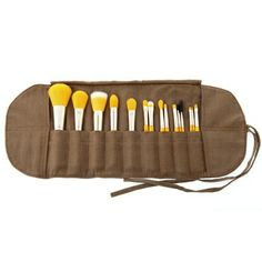 Make-Up Brush And Pouch In Yellow...Apriori Beauty Skin Care Products, Mineral Foundations and Powders & Home Business opportunity, amazing skincare company. The products are wonderful! Message me for sample information call Kathy's Day Spa, (609) 404-7908, aprioribeauty.com... www.facebook.com/... #skincare #anti-aging #beauty #aging