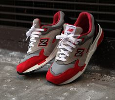 462162f9b11da9 New Balance 1600-Red-Black-Grey Tennis Shoes Outfit