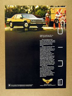 1986 Buick LeSabre Grand National Black Car Photo Vintage Print Ad | eBay