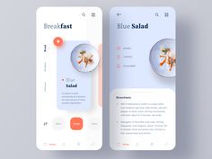 Cooking Recipe App restaurant mobile chef cuisine cooking foodie food app blue orange food recipe cooking app minimal ui ux clean onion Source by - Ios App Design, Mobile Ui Design, Dashboard Design, Android App Design, User Interface Design, Interface App, Android Apps, Menu Mobile, Game Mobile