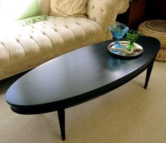 Small Black Oval Coffee Table