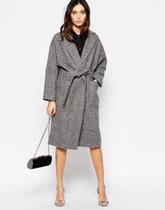 Bild 4 von Helene Berman – Edge to Edge – Grau karierter Oversized-Mantel aus Tweed