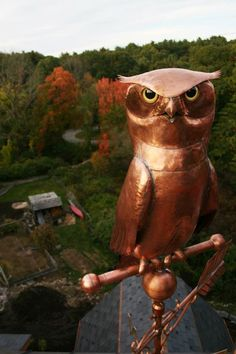 Copper Owl Weather Vane