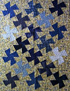 """The entire quilt is composed of simple 3 """" blocks. Use the Lazy Angle Ruler to make all of the blocks in this quilt. All pieces are cut from strips. Finished Size: 36"""" X 48 """""""