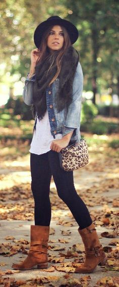 Denim and white shir