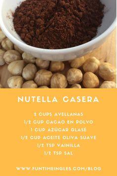 Nutella o nocilla casera! Fácil, rica y mucho más sana! Si visitas el blog, además una receta de galletas de nutella sin gluten.