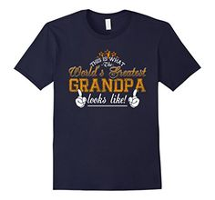 Men's The World's Greatest Grandpa funny father's day gift XL Navy ** You can get more details by clicking on the image.