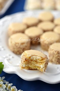 Ciasteczka warszawskie Read More by Best Cookie Recipes, Sweet Recipes, Cake Recipes, Dessert Recipes, Polish Desserts, Polish Recipes, Polish Food, Holiday Desserts, No Bake Desserts