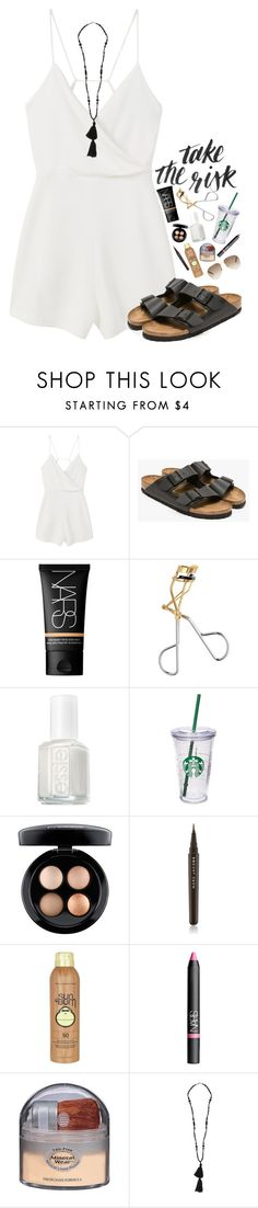 """~you're the only one who really understands me~"" by simply-natalee ❤ liked on Polyvore featuring MANGO, Birkenstock, NARS Cosmetics, H&M, Essie, Starbucks, MAC Cosmetics, Marc Jacobs, Sun Bum and Physicians Formula"
