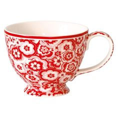 GreenGate Stoneware Teacup Selma Red D 11,5 cm | NEW! Autumn/Winter 2014 | Originated-Webshop