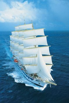 Royal Clipper - the tallest sailing ship worldwide designed in Poland..... what a Beauty!