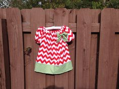 Red and Green Chevron Christmas Peasant by AnnaCharlotteDesigns, $25.00