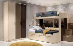 Dormitorio Juvenil en tonos ocres con buenas ideas para almacenar y ordenar la habitación