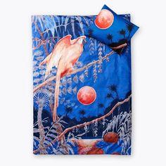 Papukaij Duvet Cover Set, featuring an illustration by Rudolf Koivu Spring Summer 2018, Duvet Cover Sets, Tie Dye, Illustration, Painting, Art, Art Background, Quilt Cover Sets, Painting Art