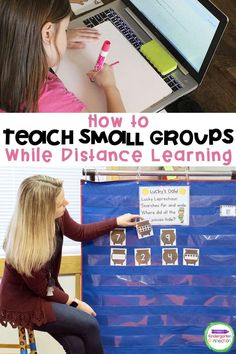 Teaching small groups virtually in Pre-K & Kindergarten is crucial for student growth. Check out these tips for how to do this successfully! A must read for any Pre-k or Kindergarten teacher who is teaching their early learners online. #distancelearning #kindergartenteacher #teachingkindergarten
