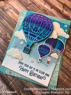 Stampin' Up Lift Me Up Balloon Card.  (Pin#1: Airplanes/ Air Balloons).