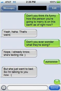 LOL! If this wasn't between an engaged couple or bf/gf, I can only imagine what the girl was thinking! Ha!