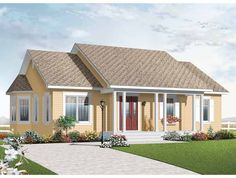 Country House Plan with 1218 Square Feet and 3 Bedrooms from Dream Home Source | House Plan Code DHSW67653