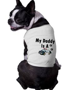 My Daddy Is A Policeman Ribbed Dog Shirt police cop 911 proud dog T-shirt tshirt on Etsy, $15.75