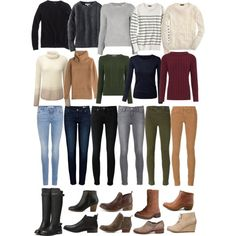 Uniform capsule: Sweaters/skinnies/ankle boots by deltajctak on Polyvore featuring J.Crew, WearAll, Chinti and Parker, Pure Collection, Uniqlo, Diane Von Furstenberg, Oasis, Anine Bing, Paige Denim and J Brand