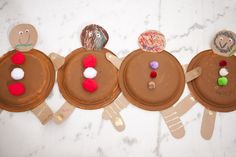 gingerbread man paper plate craft