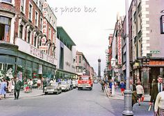 Dublin, Ireland, Henry Street, early 1960s Dublin Street, Dublin City, Dublin Ireland, Ireland Travel, Old Pictures, Old Photos, Buses And Trains, Ireland Homes, Irish Celtic