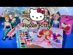 4e49d9f9c Hello Kitty Toys Collection Coloring Tote Bag Frozen Fever Cinderella  Strawberry Shortcake Toy Video