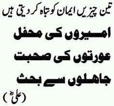 teen cheezen urdu quote