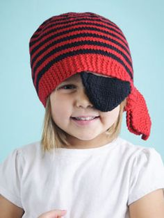 3d4235f0330 Free knitting pattern for Ahoy Hat pirate bandana hat with patch. Ashley  Cole