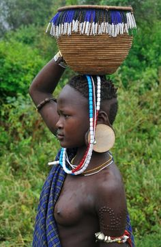Africa | Young Mursi girl - Mago National Park, Omo Valley, Ethiopia | ©Shane Dallas