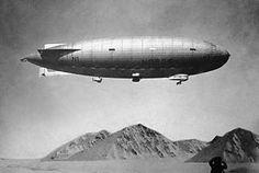 Explorer Roald Amundsen crossed the North Pole in the semi-rigid airship Norge in 1926.