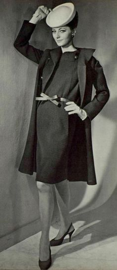 1965 Christian Dior I'm assuming because this is in black and white it must be vintage.  Wow no way?  The art of fashion!