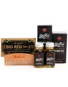 Kit de grosse barbe rouge 1 peigne 2 barbe par BigRedBeardCombs