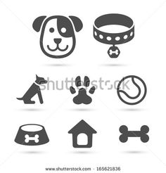 Cute dog icon symbol set on white Royalty Free Vector Image , Dog Outline, Instagram Feed Ideas Posts, Most Beautiful Dogs, Dog Icon, Dog Branding, Cute Emoji, Dog Logo, Cute Disney Wallpaper, Dog Quotes